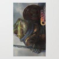 A Knightly Frog  Rug