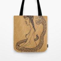 SnakeGirl  Tote Bag