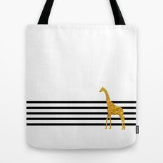Gold Giraffe Tote Bag