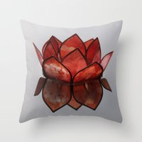 Glass Blossom On Water Throw Pillow