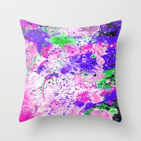 Watercolour Paint Splash Throw Pillow