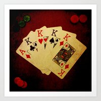 Poker de Reyes (Dirty Poker) Art Print