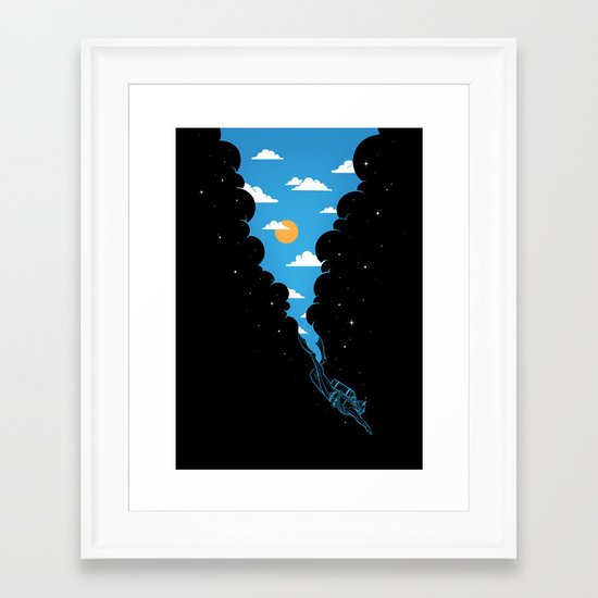 Skydiver Framed Art Print