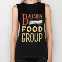 Bacon is a Food Group Biker Tank