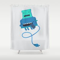 Toast made me do it Shower Curtain