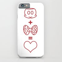 iPhone & iPod Case featuring Mickey loves Minnie by Melissa Kramer