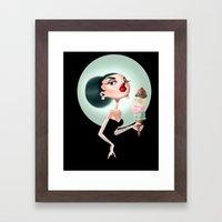Glamour Ice Cream Framed Art Print