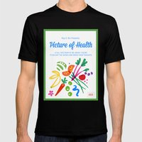 Picture of Health Mens Fitted Tee Black SMALL