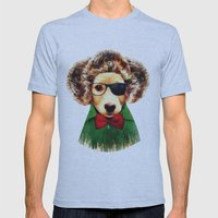 Dog ( Ben) Mens Fitted Tee Athletic Blue SMALL