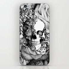 Butterfly rose skull with ladybugs. Good luck iPhone & iPod Skin