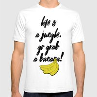 TOTALLY BANANAS Mens Fitted Tee White SMALL