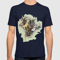 Explosion Mens Fitted Tee Navy SMALL