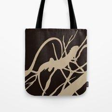 Lizard Camo: Caramel On Brown Tote Bag