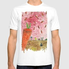Everyone Love Carrot White Mens Fitted Tee SMALL