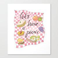 Let's Have A Picnic Canvas Print