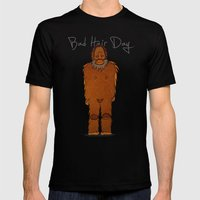 bad hair day no:4 / Bigfoot Mens Fitted Tee Black SMALL