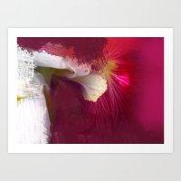 Crimson Orchid Art Print