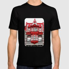Checkerboard House  Mens Fitted Tee Black SMALL