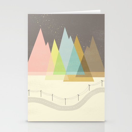 Highway Under Stars Stationery Card