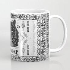 Mononoke Hime Wolf Pride Letterpress Line Work Mug