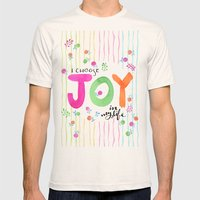 Joy Mens Fitted Tee Natural SMALL
