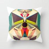 Ra-mura Throw Pillow