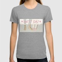 HAPPY DAY Womens Fitted Tee Tri-Grey SMALL