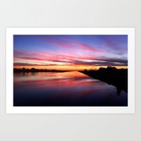 Sunset On The San Diego … Art Print