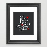 Valentine Love Calligrap… Framed Art Print