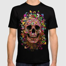 Pink Noise Mens Fitted Tee Black SMALL