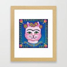 el Kitty Kahlo Framed Art Print