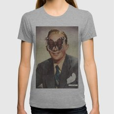BING CROSBY.  (PIN-UPS). Womens Fitted Tee Athletic Grey SMALL