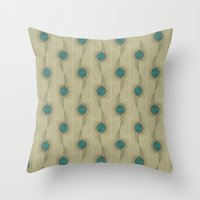 Turquoise Circles Pattern Modern Abstract Throw Pillow