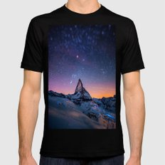 mountain view Black SMALL Mens Fitted Tee