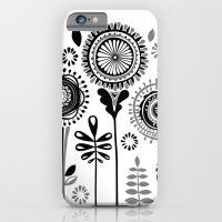 iPhone & iPod Case featuring Folksy Flowerheads by Katy Clemmans