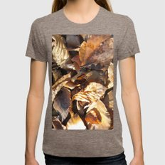 Autumn leaves Womens Fitted Tee Tri-Coffee SMALL