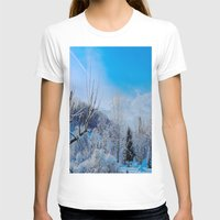 Good Morning Winter Womens Fitted Tee White SMALL