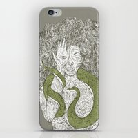 Snake And Sprite: Green iPhone & iPod Skin