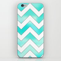 Blue Chevron iPhone & iPod Skin