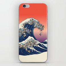 The Great Wave of English Bulldog iPhone & iPod Skin