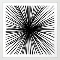 Sunburst Black  Art Print