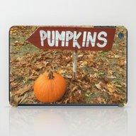 Pumpkin Sign iPad Case