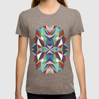 Abstract Kite Womens Fitted Tee Tri-Coffee SMALL