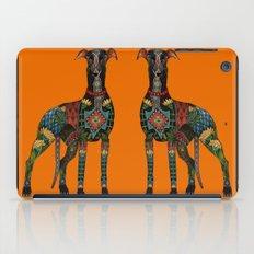 greyhound orange iPad Case