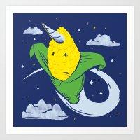 Uni-Corn Art Print