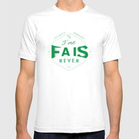 J'me Fais Rêver - Will Mens Fitted Tee White SMALL