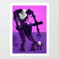 Papa Cyborg Baby Cyborg Art Print