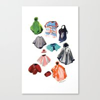 A Passel of Ponchos Canvas Print