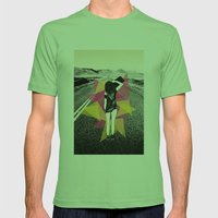 Skater Girl Mens Fitted Tee Grass SMALL