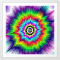 Psychedelic Explosion Art Print
